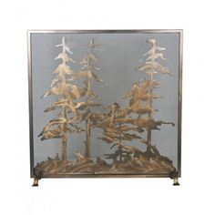 "34"" Wide X 33"" High Tall Pines Fireplace Screen - #99766 - $723.60"