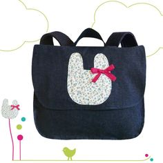 Cartable Littlebunny - Bleu jeans