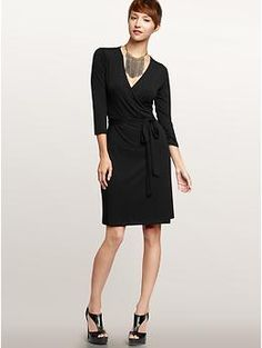 staple. wrap dresses are flattering and can be dressed up for work. (other colors for spring/summer too)