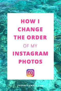 This app will help you rearrange the order of your Instagram photos. Plan your Instagram feed in advance. Make your theme flow with these 3 tips and tricks to order your photos and place them perfectly next to each other.