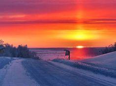 Utsjoki, Finland, end of polar night photo by Jorma Hagelin Amazing Sunsets, Beautiful Sunset, Polar Night, Native Country, Outdoor Pictures, Lappland, Scandinavian Countries, Arctic Circle, Winter Beauty