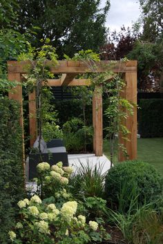 Awesome 88 Impressive Small Home Garden Design Ideas To Try Asap. Awesome 88 Impressive Small Home Garden Design Ideas To Try Asap. Home Garden Design, Small Garden Design, Home And Garden, Backyard Pergola, Backyard Landscaping, Landscaping Ideas, Outdoor Pergola, Small Garden Pergola, Corner Pergola