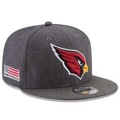 new styles 6d142 9d9fa Arizona Cardinals New Era Crafted in the USA 9FIFTY Snapback Adjustable Hat  – Heather Gray,
