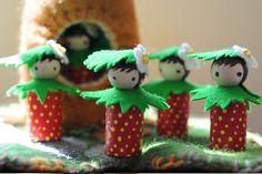 strawberry peg people by Morgan (California, USA)