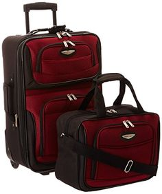 Carry-on Luggage Collections   Travelers Choice Amsterdam 2 Piece CarryOn  Luggage Set in Burgundy ba8ae59d38