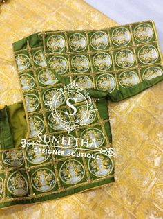 Kanchipuram pattu sarees with Maggam work blouses by Suneetha Designer boutique! Work Blouse, Blouse Designs, Sarees, Blouses, Embroidery, Boutique, Needlepoint, Scrub Tops, Saris