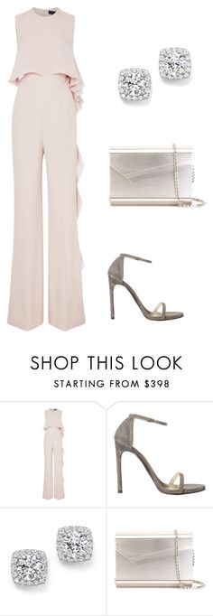 Party Jumpsuit by evelynakaakar on Polyvore featuring Elie Saab, Jimmy Choo and Bloomingdale's
