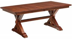 Our Lara Lake Trestle Table is handcrafted from the hardwood you choose. Woods sourced for our Amish furniture are exclusively from sustainable forests.