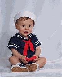 Baby Boys Sailor Suits: Sizes 9 to 12 Months (there are more sizes elsewhere on the site but this little boys photo had me meeeeeeltiiiiiiiiing)