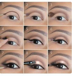 6 tutos make up inédits pour mettre vos yeux en valeur : Soft, rose gold, smokey eye tutorial. Good for hooded eyelids or monolids on Asian eyes. Products and instructions in the link. Contour Makeup, Eye Makeup Tips, Skin Makeup, Makeup Products, Makeup Ideas, Makeup Brushes, Makeup Remover, Eyeshadow Makeup, Eyeshadow Pans