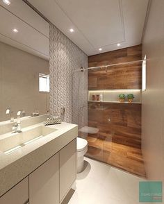 madeira no banheiro; como usar madeira no banheiro; madeira no banheiro dentro Bad Inspiration, Bathroom Inspiration, Bathroom Ideas, Bathroom Layout, Bathroom Design Small, Modern Bathroom, Bathroom Pink, Bathroom Interior, Interior Design Living Room