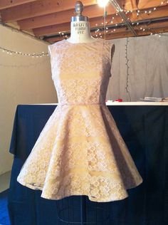 Vintage 1950s Inspired Cream Lace Dress. $95.00, via Etsy.
