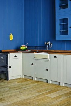 Idea for utility - Belfast sink, wooden work surface and unit
