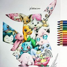 art_spotlightGuess that Pokemon! Oh, just kidding. It's all of them  By