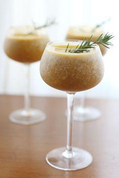 bourbon pumpkin shake | 1 cup canned pumpkin puree, 1 cup milk, a frozen banana, 1 Tsp. vanilla, 2 Tsp. maple syrup)   - 1.5 shots Amaretto   - 1.5 shots Bakers Bourbon   - 1 cup ice
