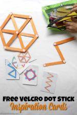 Velcro Dot Craft Stick Building Cards