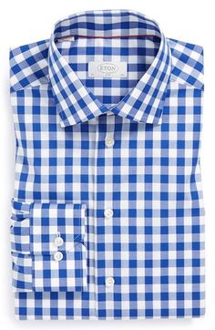 Eton Slim Fit Gingham Check Dress Shirt available at #Nordstrom