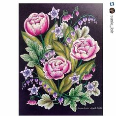 #Repost @susie_loir with @repostapp ・・・ #mariatrolle #blomstermandala #artecomoterapia #coloring_secrets #coloring_masterpieces #colorindolivrostop #bayan_boyan #florestaencantada2 #ColoringMasterpiece #colouringforadults #prismacolors #polychromos #coloringflowers #blackbackground