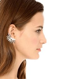 Crystal Faux Pearl Cuff Earring