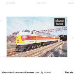 Delaware Lackawanna and Western Locomotive 808 Laminated Placemat; www.railphotoexpress.biz