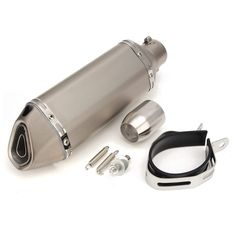 Buy Titanium 38-51mm Stainless Steel Motorcycle Exhaust Muffler Slip on Street Bike: Price: $78.19 Category: Other Description: Stainless…