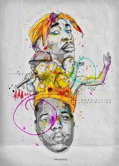 Jay Z Tupac 2 Kingz - Inkquisitive illustrations