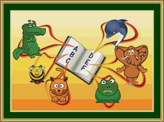 Cross Stitch Pattern for a child's bedroom, Alphabet.  This cross stitch pattern depicts a book showing the first six letters of the alphabet and the animals associated with the letters.    If you have a child or grandchild who has a name beginning with any of these six letters or you want to...