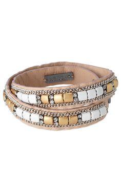 Tan Lambskin & Stone Wrap Bracelet | Cady Wrap Bracelet | Stella & Dot www.stelladot.com/robinperuggia