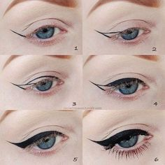 Simple Winged Cat Eye Make Up