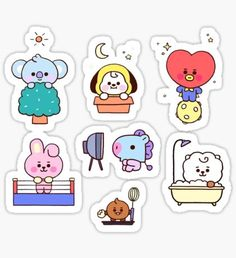 High quality Babies gifts and merchandise. Inspired designs on t-shirts, posters, stickers, home decor, and more by independent artists and designers from around the world. Pop Stickers, Anime Stickers, Tumblr Stickers, Kawaii Stickers, Printable Stickers, Journal Stickers, Planner Stickers, Kpop Diy, Bts Drawings