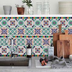 Vinilos Decorativos - Azulejos de 15 x 15 modelo patchwork. WALL STICKER DECOR.