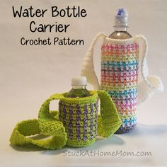 new ideas for crochet baby carrier pattern bottle holders Baby Afghan Crochet, Crochet Tote, Crochet Purses, Crochet Yarn, Free Crochet, Crochet Baskets, Irish Crochet, Easy Crochet Slippers, Crochet Slipper Pattern
