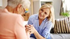 Communicating with a person with Alzheimer's: elderly, senior, daughter, speak, help, visit, old