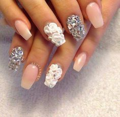 Love these! Nude/pink rhinestones & roses! Perfection!