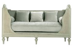 Hartwell Daybed $2,999. seen at onekingslane is dreamy. The hue is perfect as well--should add it to my wish list.