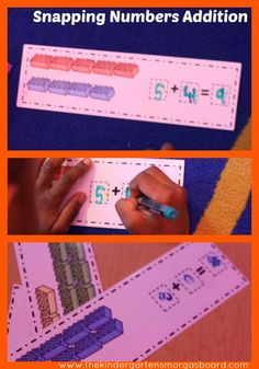 Snapping Numbers Addition!!  Legos and math!