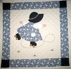 Free Sunbonnet Sue Quilt Pattern   Sunbonnet Sue