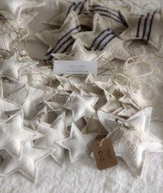 cloth star ornaments