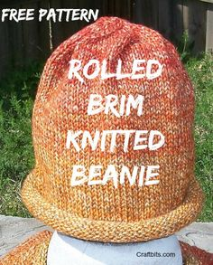 Charity Pattern: Rolled Brim Hat