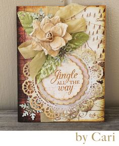 12 Days of Christmas: Day 2-Metal Dies! Card by Cari Fennell for Prima using metal doily die. #cards #Christmas #prima #12days