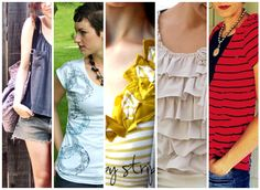 10 Awesomely altered T-Shirts - DIY Up-cycled Tshirts