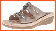 Clarks Women's Posey Lynn Wedge Sandal,Grey,9.5 M US - Sandals for women (*Amazon Partner-Link)