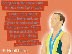 Being seen does have value. A voice does have value. -Olympian Jr Wallace #respectaids #zerodiscrimination