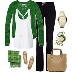 Green with envy by mycuteboyz on Polyvore featuring Abercrombie & Fitch, River Island, Tory Burch, MARC BY MARC JACOBS, Coach and Origins