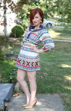 Thrift and Shout: Cute Outfit of the Day- dress from #Goodwill  see more at   http://thriftandshout.blogspot.com