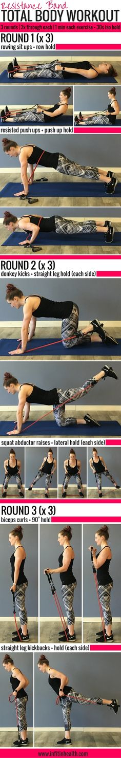 Resistance Band Total Body Workout w/ Isometric Holds | Posted By: NewHowToLoseBellyFat.com