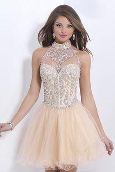 Shampain or skin color dress