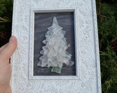 Christmas Tree by the Sea 7.25 X 9.25 Sea Glass by SeabirdDesign