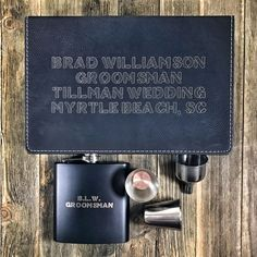 Personalized flasks are always a strong choice when it comes to picking the perfect groomsmen gifts. Click the link and check out our full lineup of custom flask sets. Wedding Advice, Wedding Planning, Wedding Gifts For Men, Flasks, Shot Glasses, Groomsman Gifts, Lineup, Wedding Season, Groomsmen