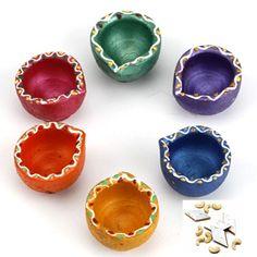 Shop Decoration Of Diya For Diwali Online - Rediff Shopping Diya Decoration Ideas, Diy Diwali Decorations, Diwali Diya, Diwali Gifts, Diya Designs, Diwali Festival, Indian Sweets, Stone Crafts, Festival Lights